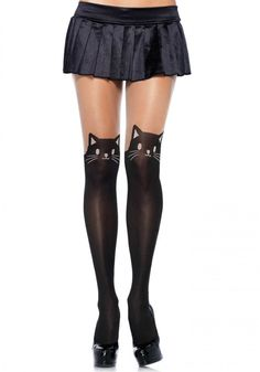 f365251b94f5d Amazon.com: Women Adults Exotic Black Seduction Cat Naughty High Waist Stockings  Hosiery Pantyhose: Clothing