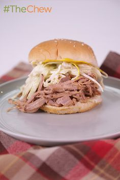 """From her book, """"Trisha's Table,"""" this Slow Cooker Georgia Pulled-Pork Barbecue taste of the South by Trisha Yearwood is one not to miss! #TheChew"""
