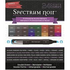 Nice & dark colors for projects & coloring Spectrum Noir Alcohol Markers - Darks - 24 Pack  affiliate