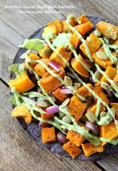 Butternut Squash Black Bean Tostadas   Two Peas and Their Pod #recipe #vegetarian #gluten_free