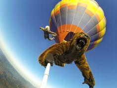 Cosplay skydiving