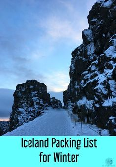 Iceland Packing List for visiting Iceland in winter | What to wear in Iceland in winter #iceland #packinglist #icelandtravel #icelandtips