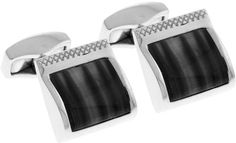 Tateossian Classic Rectangular Cuff Links Black in Black for Men (null) - Lyst