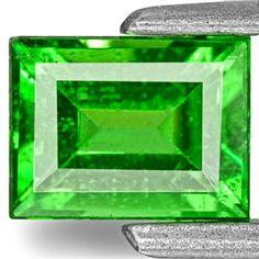0.80-Carat Vivid Neon Green Baguette-Cut Tsavorite Garnet