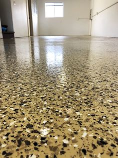 Polyurea flake systems are more durable than epoxy systems. This was a colored polyurea that the flake was broadcast into, then a clear polyurea to topcoat. Concrete Sealant, Epoxy, Garage Floor Coatings, Start Of Winter, Topcoat, Flakes, Improve Yourself, Restoration, Flooring