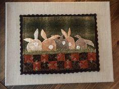 Patrón de apliques de lana llamado Parche de zanahoria