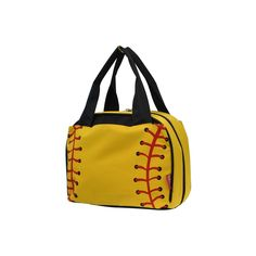 96fcd7c051 Softball Print Insulated Lunch Bag-Blk