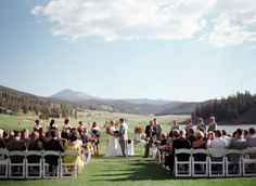 Beautiful venue at Keystone Ranch in Keystone, Colorado Natalie and Travis / Rachael Grace Photography / Distinctive Mountain Events