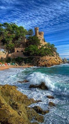 -Castle of Sant Joan in Lloret del Mar, Costa Brava, Spain