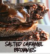 Salted caramel brownies...My sweet tooth is showing!
