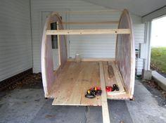 jean rene micro camper teardrop trailer project how to build your own 05 How to build your own ultra lightweight Micro Camper Teardrop Tra. Tiny Camper, Small Campers, Rv Campers, Small Camper Trailer, Micro Campers, Offroad Camper, Truck Camper, Tiny Trailers, Camper Trailers