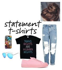 """""""Statement T-shirts"""" by emileebriceann ❤ liked on Polyvore featuring Topshop and Novesta"""