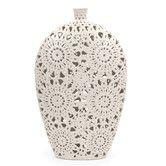 Found it at Wayfair - Lacey Floral Pierced Vase