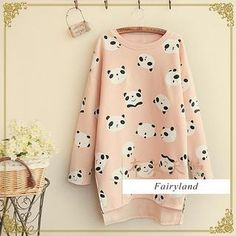 Buy 'Fairyland – Panda Print Pullover' with Free International Shipping at YesStyle.com. Browse and shop for thousands of Asian fashion items from China and more!