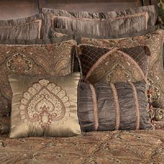 Moroccan Bedding Concept for Your Medieval Arabian Look Bedroom: Moroccan Bedding Brown Sense Typical Motive Cushions Sweet Mood Classic Style ~ dickoatts.com Bedroom Designs Inspiration