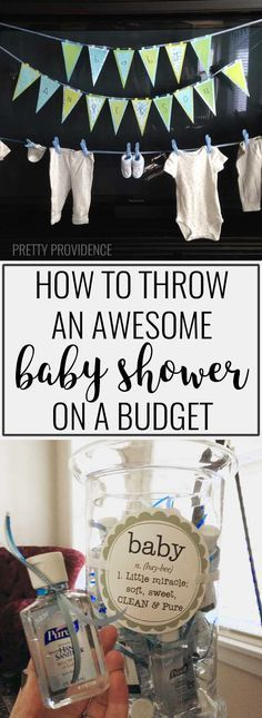 There are some great tips in here on how to throw a baby shower on a budget!