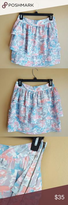 NWT UO Kimchi Blue Tiered Patterned Skirt Size: 4 Urban Outfitters Skirts