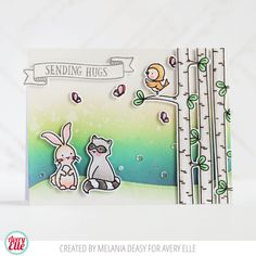 Melania Deasy for Avery Elle Supplies: Woodland Wonders Clear Stamps Woodland Wonders Elle-ments Dies Dotted Borders Die Elle-ments Dies