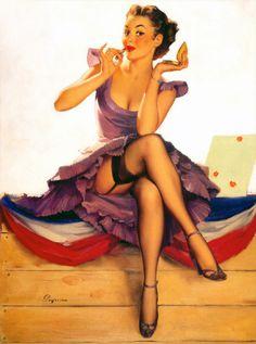 by Gil Elvgren 1954