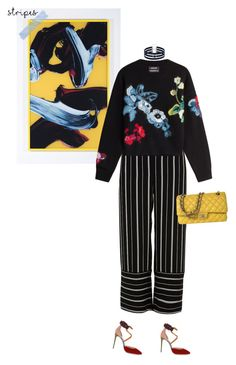"""""""best of everything"""" by uncharged-batteries ❤ liked on Polyvore featuring River Island, Anthony Vaccarello, Christian Louboutin, Taolei and Chanel"""