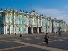 The Hermitage Museum of Catherine the Great's Palace in St. Petersburg.