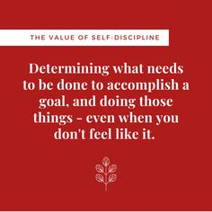 Want to know the secret formula for success? Proper planning, persistence, accountability, and hard work. In other words - self-discipline. In Other Words, Self Discipline, Life Skills, Hard Work, Success, Feelings, Work Hard, Working Hard