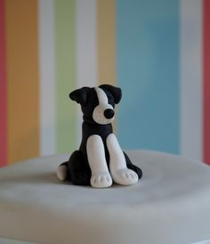 Border Collie cake topper