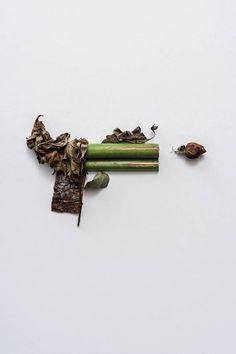 « Harm Less », les armes végétales de la photographe  Composition Sonia Rentsch - Photo : Albert Comper