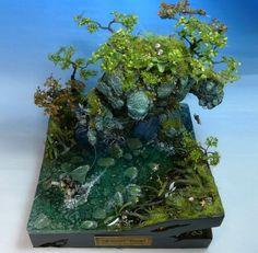 Stone golem diorama