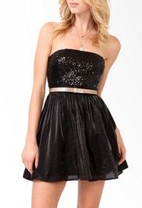sequined party dress with belt