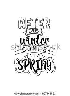 Vector illustration lettering poster for spring season.