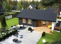Mini 3 energo - zdjęcie 3 Bungalow House Design, Modern House Design, Backyard Pavilion, Outdoor Furniture Plans, Small House Plans, Exterior Design, Patio, Outdoor Decor, Small Cabins