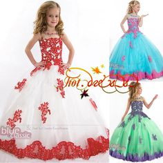 Christening Princess Bridesmaid Wedding Dance Pageant Dress Flower Girl Dresses in Clothing, Shoes & Accessories, Wedding & Formal Occasion, Girls' Formal Occasion | eBay