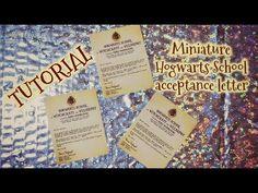 Tutoriel : lettre miniature acceptation Hogwarts Harry Potter pour nos d... Acceptance Letter, Doll Tutorial, Doll Houses, Lps, Pet Shop, Hogwarts, Harry Potter, Barbie, Miniatures