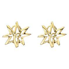Estate Tiffany & Co. Paloma Picasso 18k Gold 'Sun' Earclips