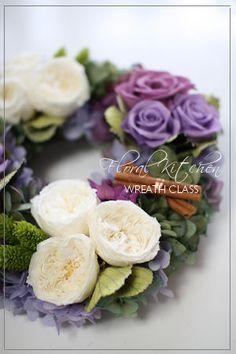 Preserved Flower Wreath by FLORAL KITCHEN