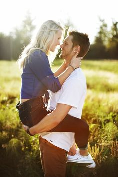 cute engagement pose