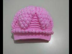 TOP FISTIKLI ÖRGÜ PEMBE BERE TARİFİ   Nazarca.com Baby Hats Knitting, Baby Knitting Patterns, Lace Knitting, Baby Patterns, Stitch Patterns, Knitted Hats, Crochet Patterns, Crochet Hats, Crochet Hat For Women