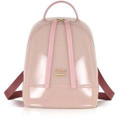 Furla Handbags Candy Winter Rose Mini Backpack (10,815 PHP) ❤ liked on Polyvore featuring bags, backpacks, mini bag, pink bag, backpacks bags, party bags and flat backpack