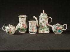 A Selection of Fine English Saltglaze Stoneware with Oriental Decorations, circa 1760-1770. Courtesy of Leo Kaplan Ltd.