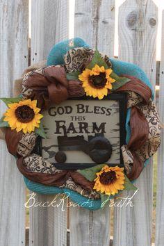 Summer Burlap Wreath  Summer Wreaths for front by BackRoadsFaith, $98.00