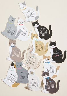 As long as this cute calendar is trained to sit at the edge of your desk, you'll celebrate the passage of time with a smile! Constructed from a series. Cat Lover Gifts, Cat Lovers, Cat Calendar, Cat Stands, Cat Care Tips, Owning A Cat, Love Your Pet, Cat Accessories, Cat Behavior