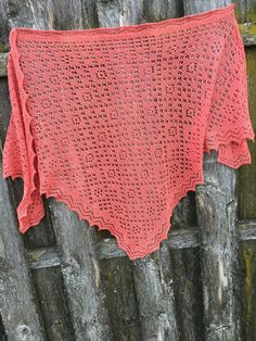 Cashmere Triangular Russian Orenburg Style Lace Shawl in Coral Color by on Etsy Lace Knitting, Coral Color, Shawls, Cashmere, Trending Outfits, Crochet, Unique Jewelry, Handmade Gifts, Etsy