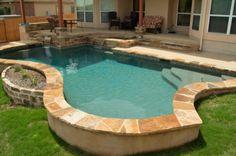 Ranked Pool Builder in Austin, San Antonio and Houston Small Backyard Pools, Small Pools, Swimming Pools Backyard, Pool Landscaping, Backyard Patio, Small Pool Design, Spa Design, Spool Pool, Pool Builders