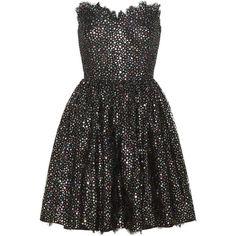 Cotton-blend mini dress ($6,070) ❤ liked on Polyvore featuring dresses, metallic dress, metallic mini dress, rainbow dress, layered dress and yves saint laurent dress