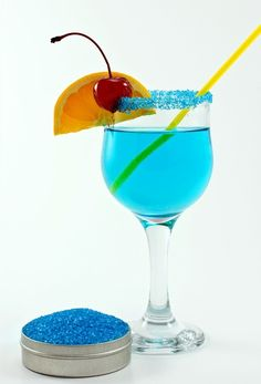 Sky blue cocktail rim sugar  drink sugar for 100 by dellcovespices, $36.00
