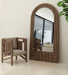 Mubarak Mirror - Featuring geometric Kufic calligraphy, this piece spells out 'Mubarak hatha el bayt', Arabic for 'blessed is this home'. Folding Furniture, Home Decor Furniture, Upcycled Furniture, Wood Furniture, Modern Furniture, Furniture Design, Furniture Ideas, Arabic Decor, Islamic Decor