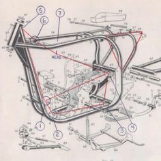 manx norton motorcycle frame dimensions - Google Search