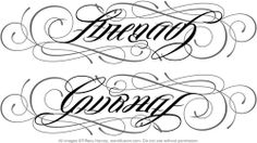 strength/courage ambigram