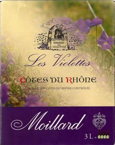Moillard Côtes du Rhône les Violettes (2010) Another fun little French wine...the perfect way to introduce yourself to the Rhone region of France..$13.99